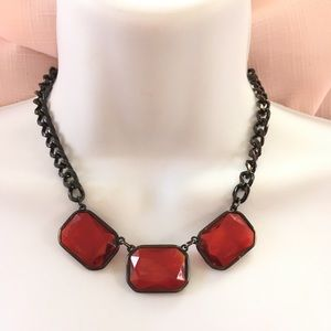 Jewelry - Red Gunmetal Chain Necklace